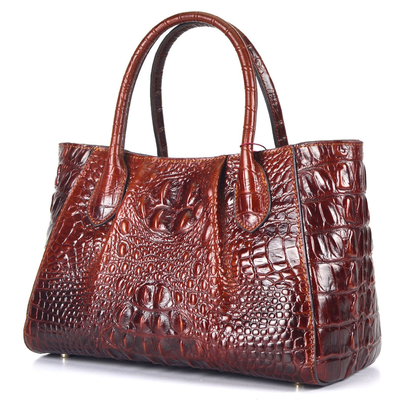 Lady Crocodile Pattern Leather Bag LH1629S_4 Colors