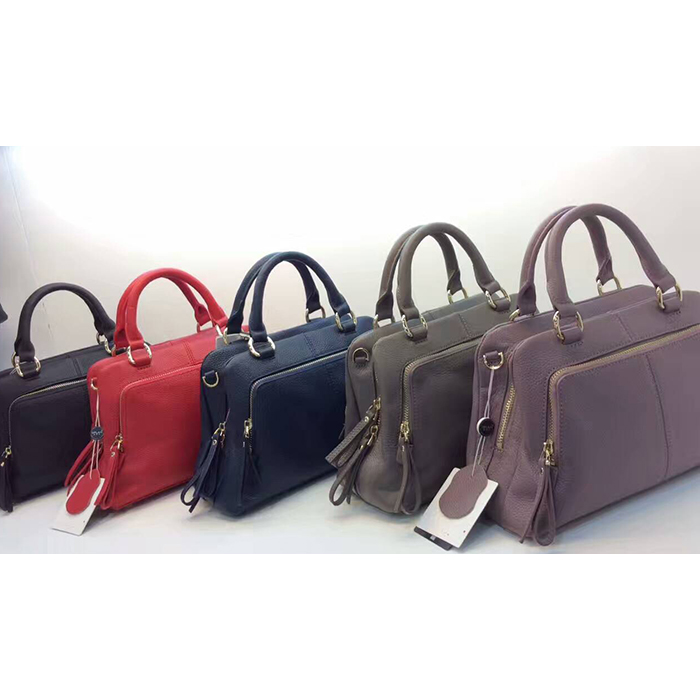 Functional Muti-zippers Leather Tote LH2346_5 Colors