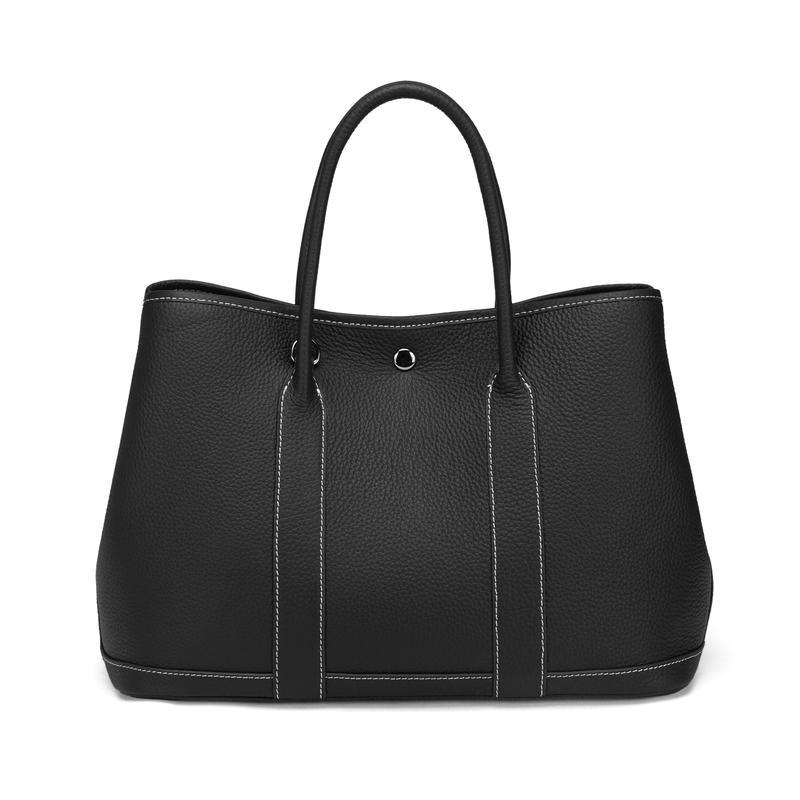 Black Elegant Real Leather Tote LH2382L
