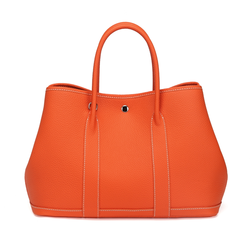 Orange Elegant Real Leather Tote LH2382L