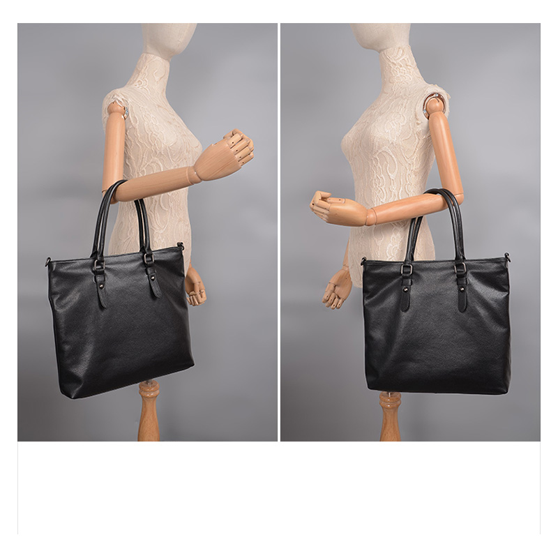 Vertical Soft Genuine Leather  Shopper Bag Tote LH2422