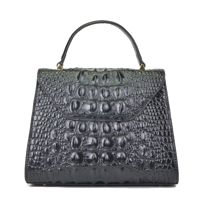 Crocodile Embossed Real Leather Tote Bag LH2450L_3 Colors
