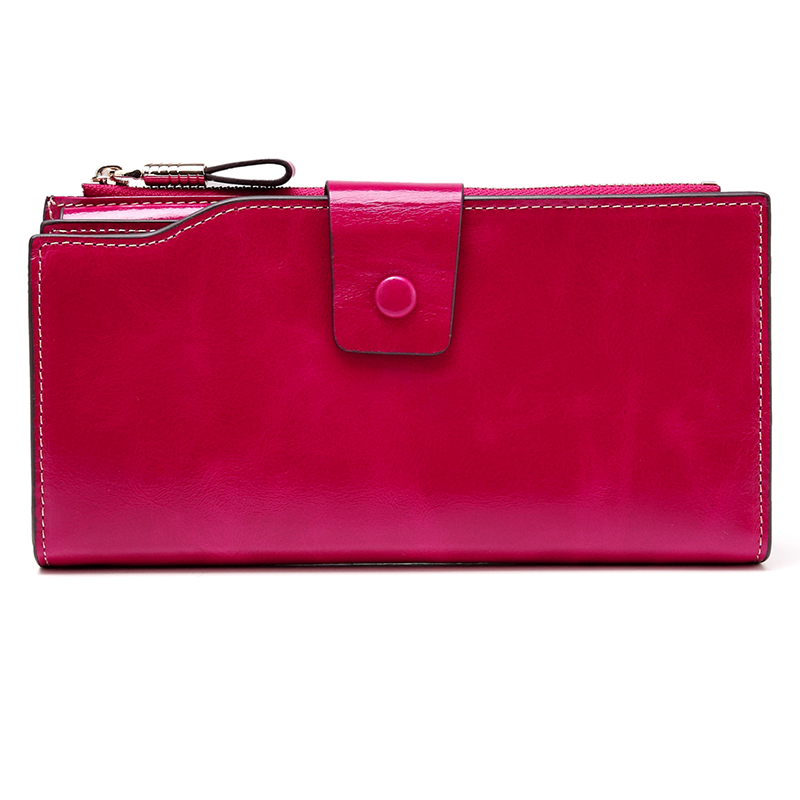 Rose Red Multiple Designer Distress Leather Wallets LH2438
