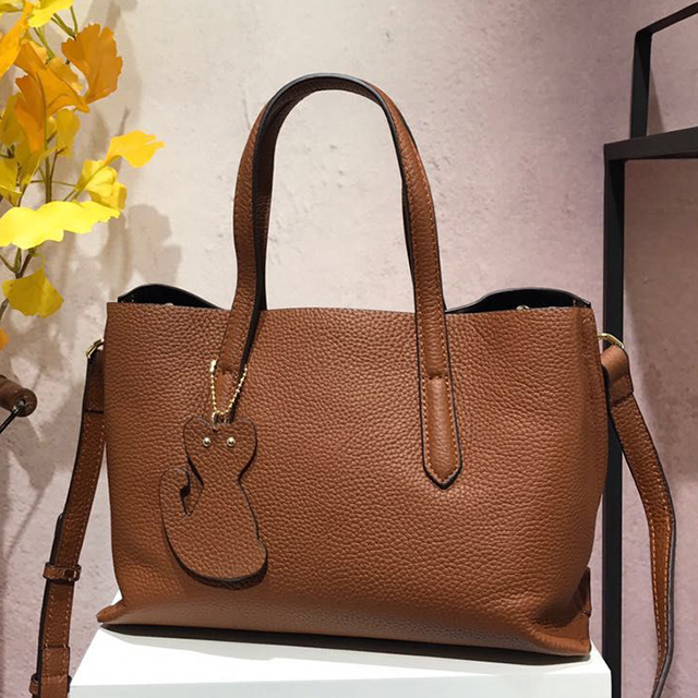Capacity Real Leather Shoulder Bag LH2473_3 Colors