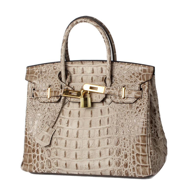 30cm Crocodile Embossed Leather Tote LH1633M_10 Colors