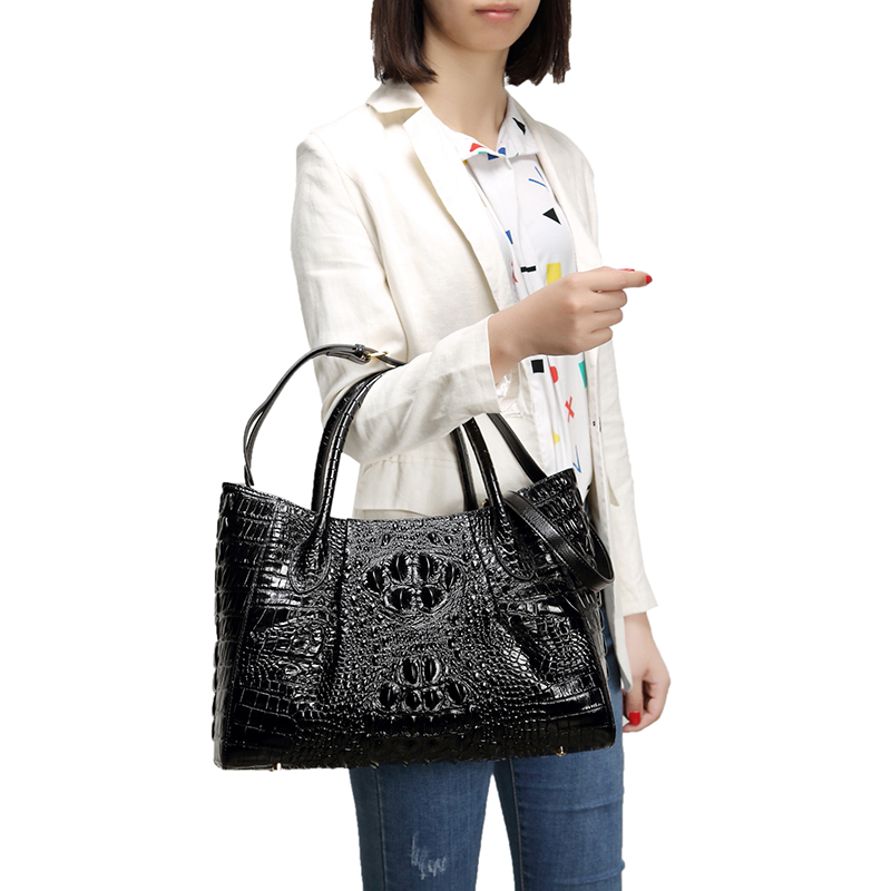 Crocodile Pattern Purse Set Leather Bag LH1629L_6 Colors