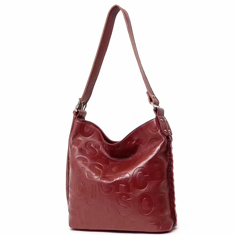 Commuter Monogrammed Leather Slouchy Bag LH2516
