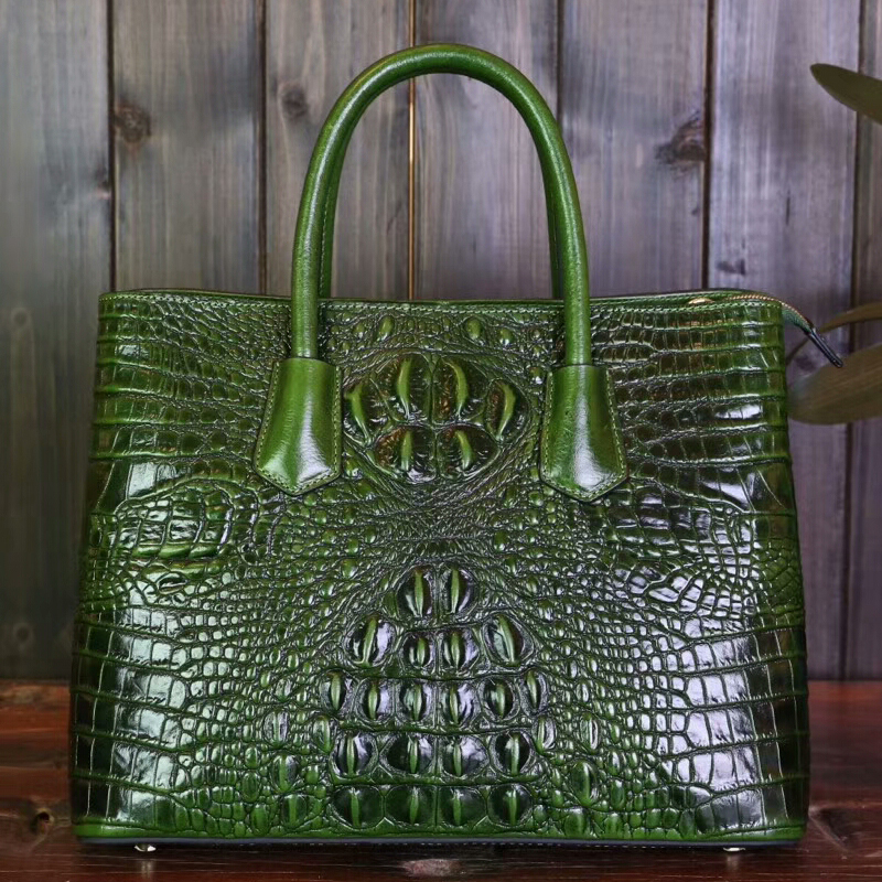 Crocodile Pattern Leather Tote LH1752A_5 Colors