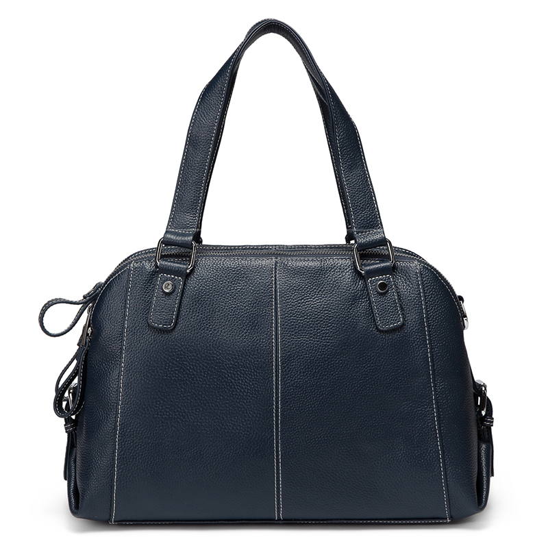 Navy Blue Functional Genuine Leather Shoulder Bag LH2486