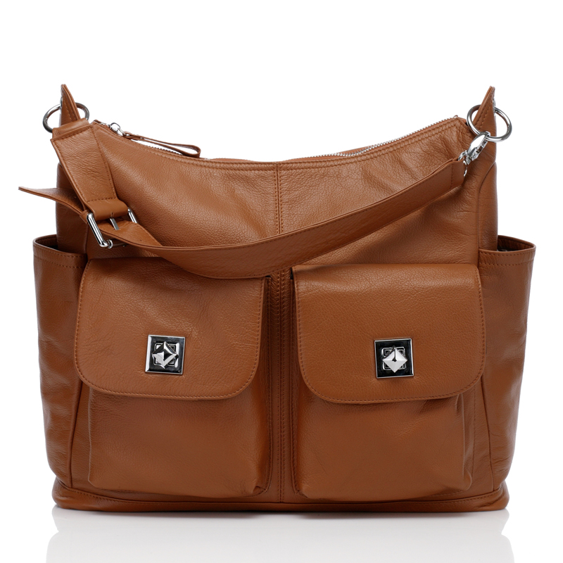 Brown Soft Italian Leather Diaper Bag Mummy Bag LH2169