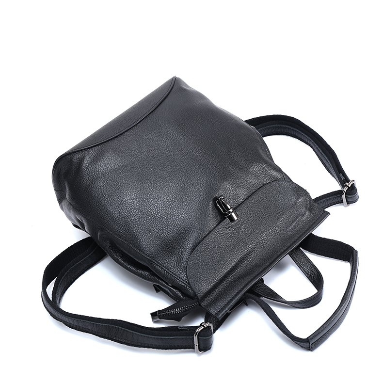 Flap Over Genuine Leather Backpack LH2541