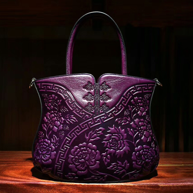 Flower Pattern Leather Tote LH1759_2 Colors
