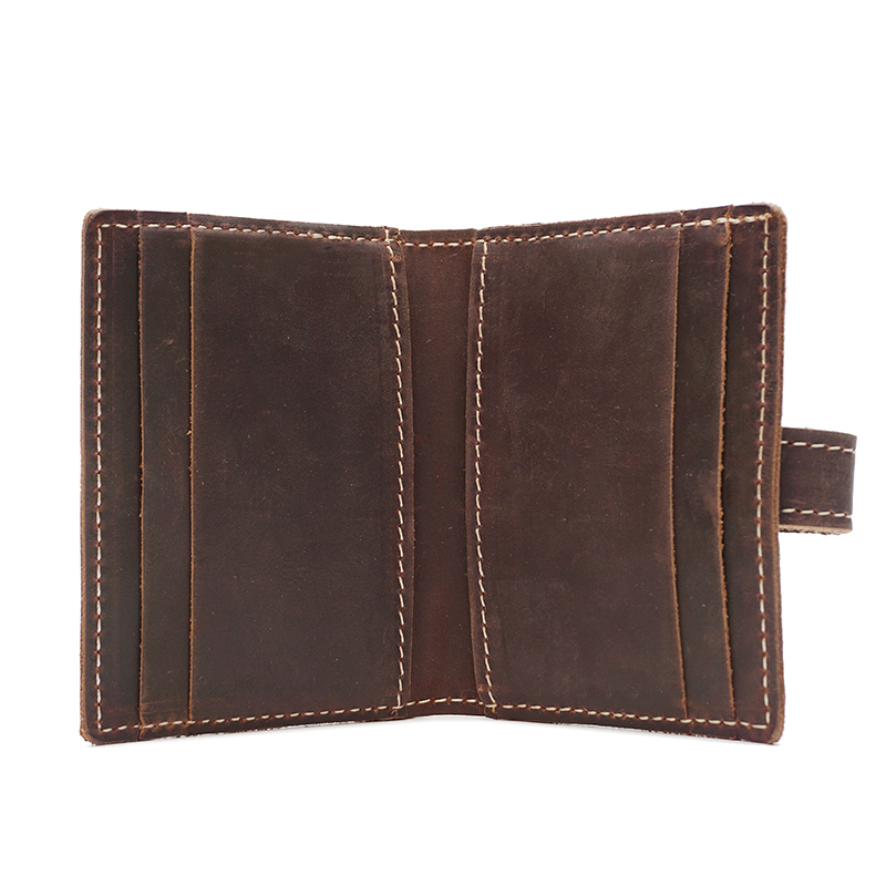 Distress Leather Card Holder Money Clip LH2574_4 Colors