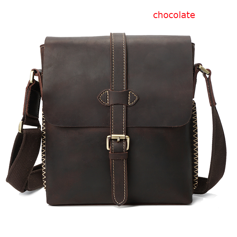 Mens Crossbody Leather Sling Bag LH2586_2 Colors