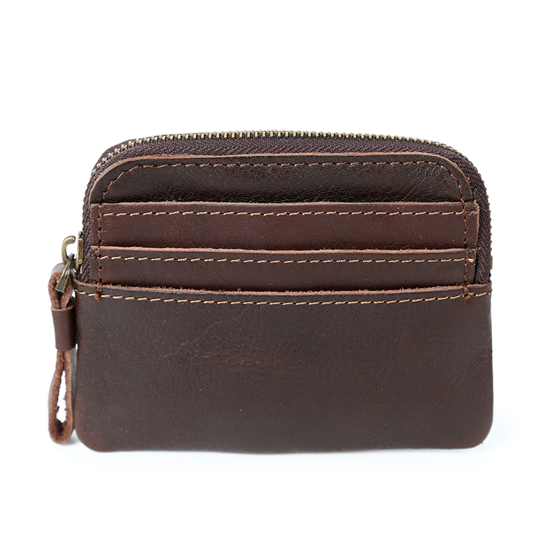 Real Leather Card Slots Purse LH2578_8 Colors
