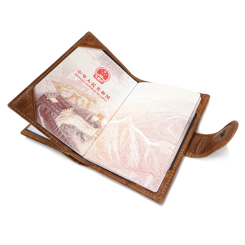 Personalized passport wallet Real Leather LH2583_3 Colors