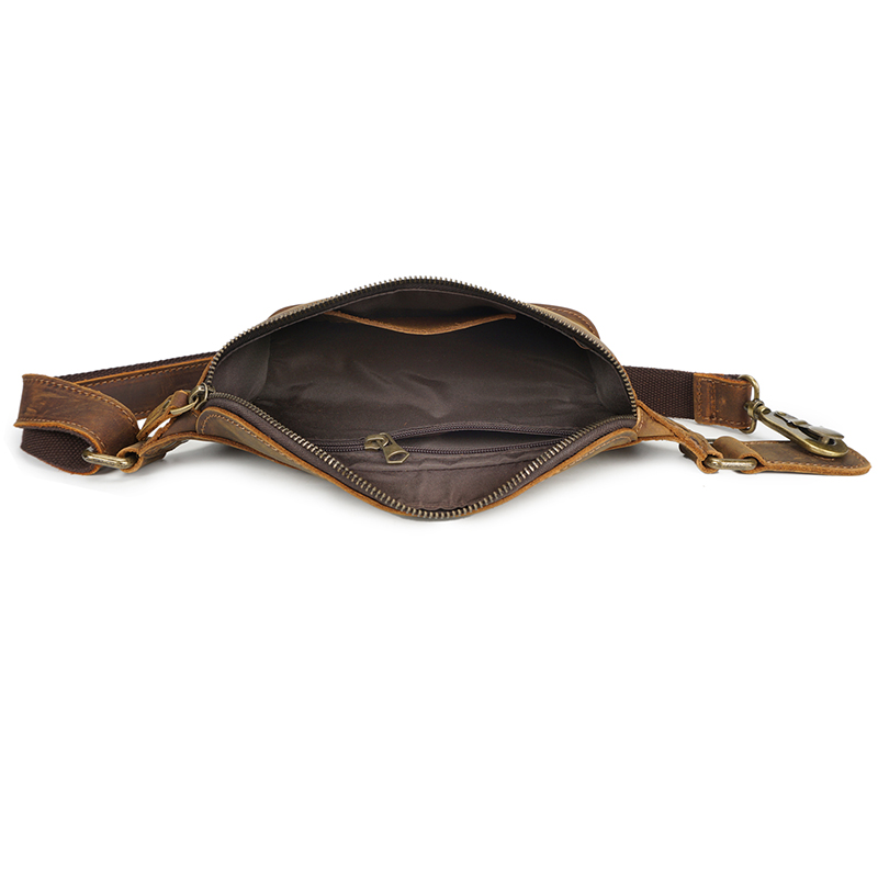 Real Leather Waist Bag Sling Bag LH2593_2 Colors
