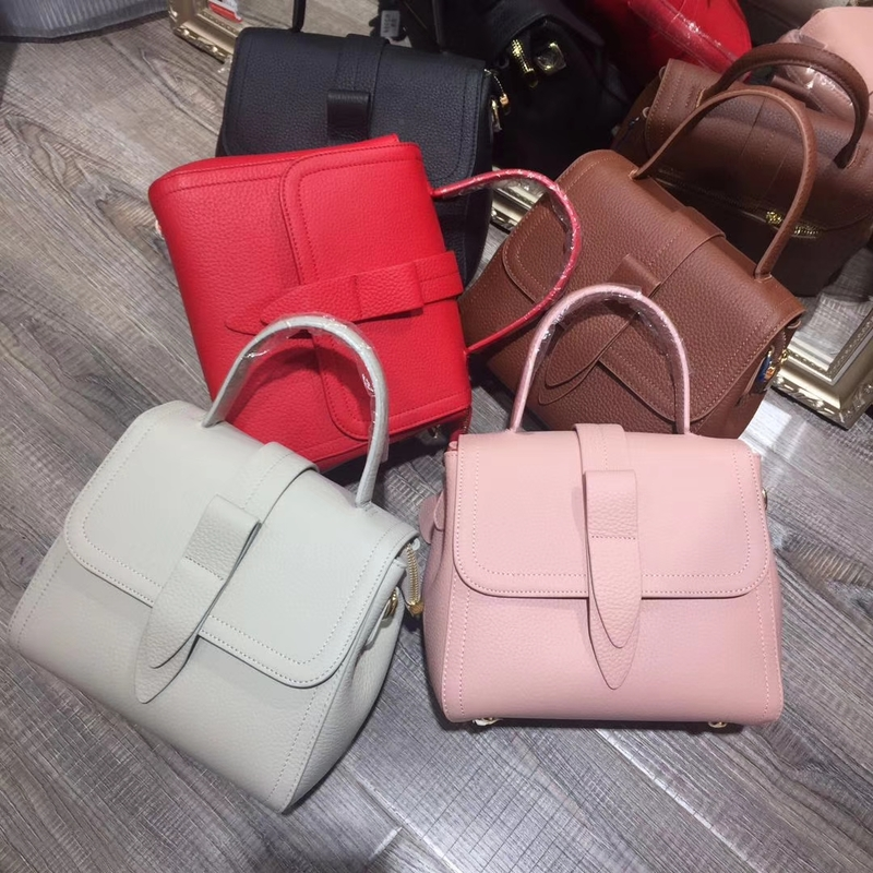 Flap Over Tie Leather Satchel Bag LH2595_5 Colors