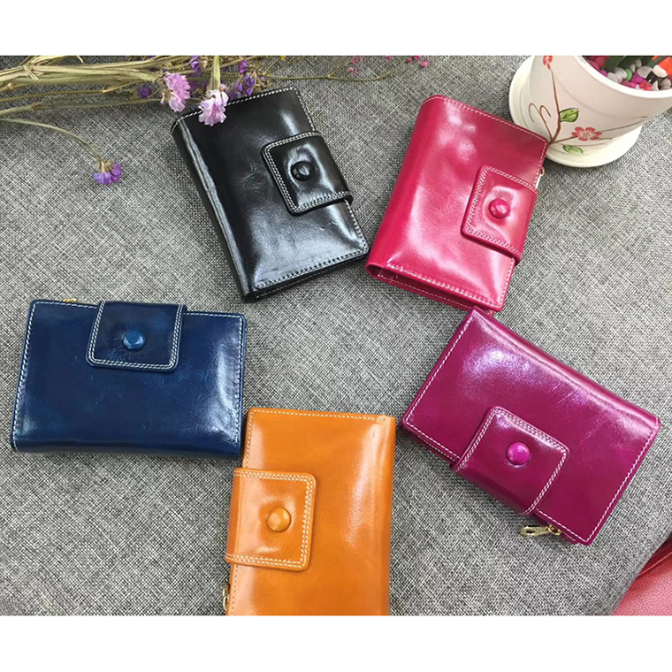 Bifold Distress Leather Wallets Card Holder LH2606_5 Colors
