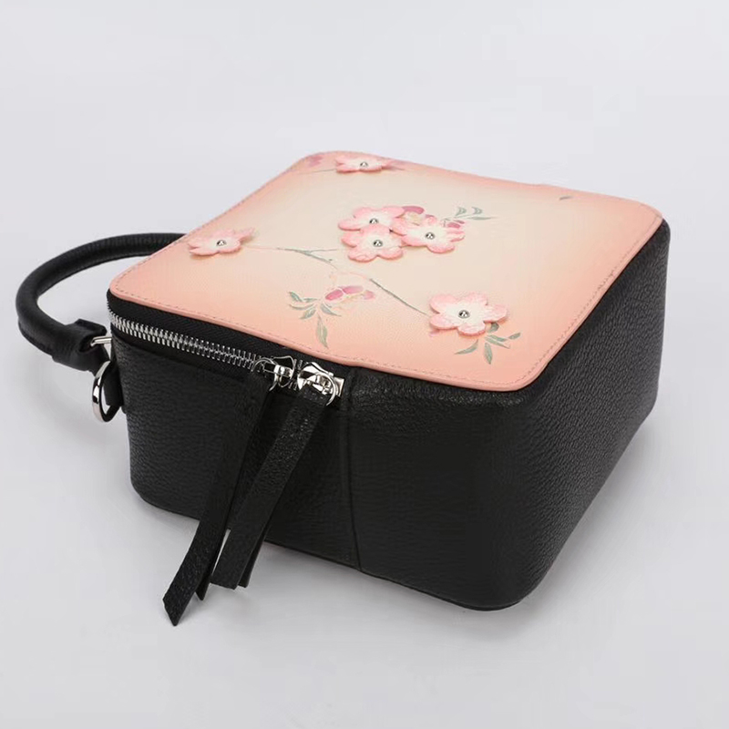 Flower Pattern Genuine Leather Purse LH2622B_2 Colors