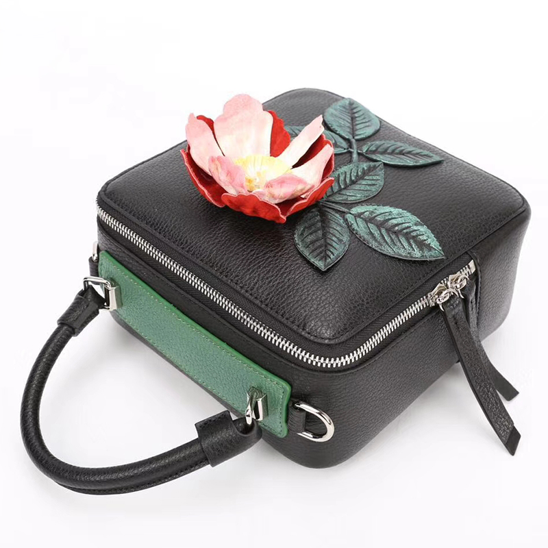 Flower Pattern Genuine Leather Purse LH2622A_2 Colors