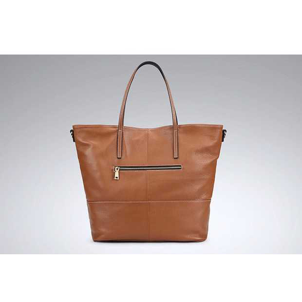 Soft Genuine Leather Tote Bag LH2649L_2 Colors