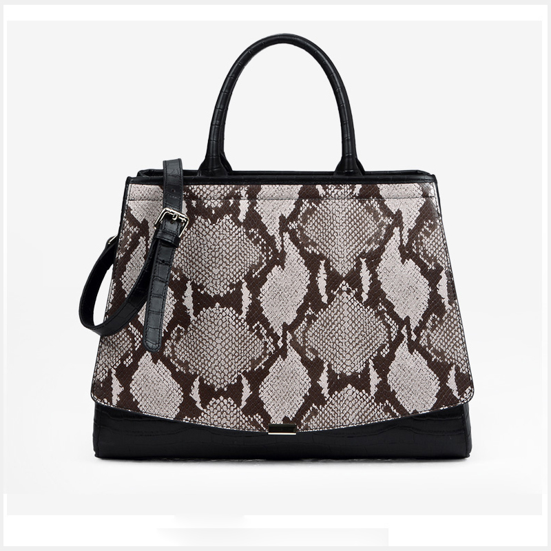 Python Effect Real Leather Tote Bag LH2654L_2 Colors