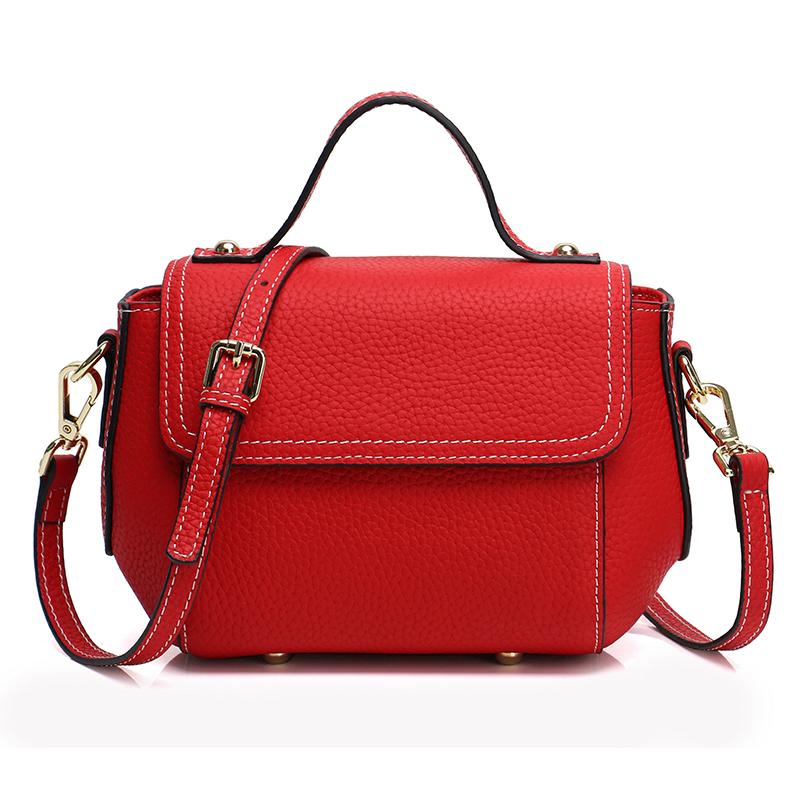 Classy Real Leather Satchel Bag LH2665_4 Colors