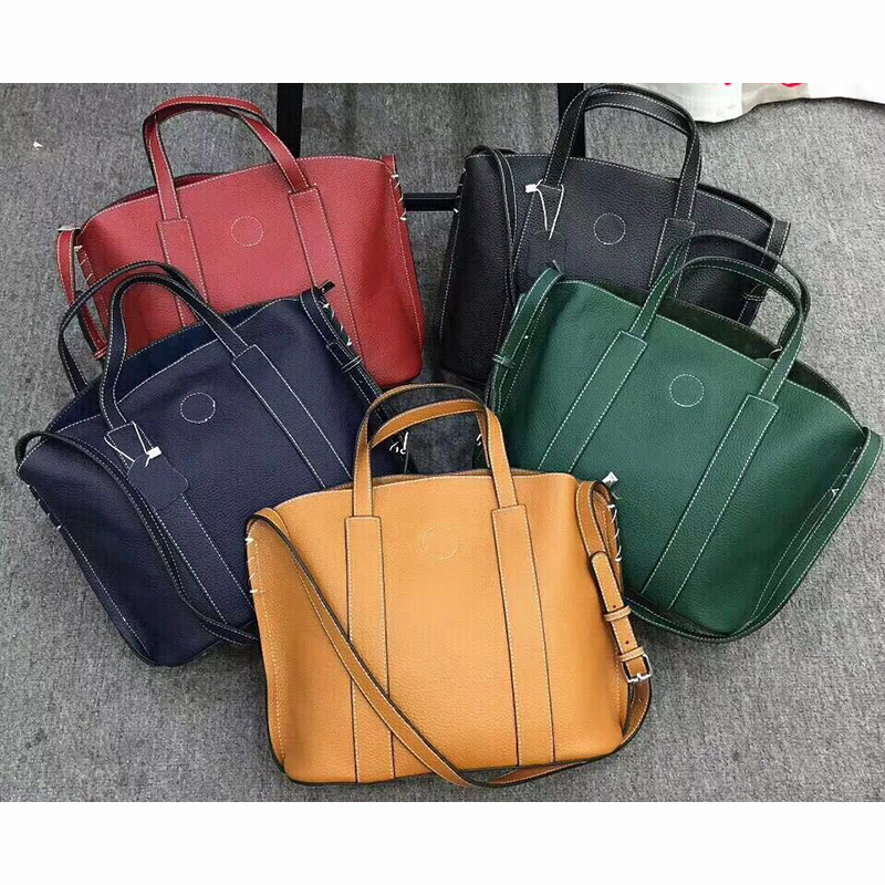 Real Leather Organizer Bag Shoulder Handbag LH2698_3 Colors