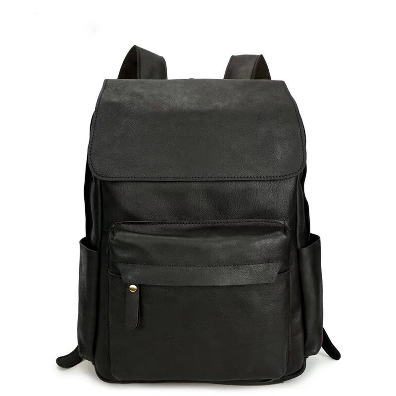 Practical Pockets Distress Leather Backpack LH2289_2 Colors