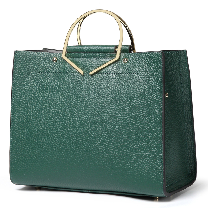 Green Large Luxury Womens Leather Tote Bag LH2700