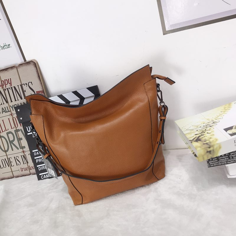Soft Genuine leather Shoulder Slouchy Bag LH2712_5 Colors