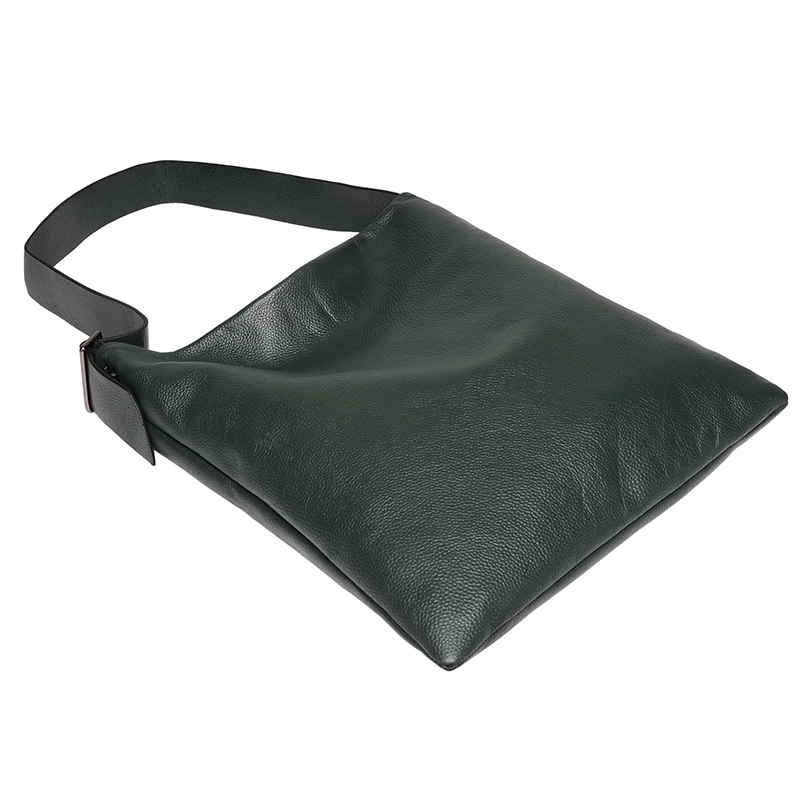 Dark Green Supple Genuine leather Slouchy Shoulder Bag LH2715_5 Colors