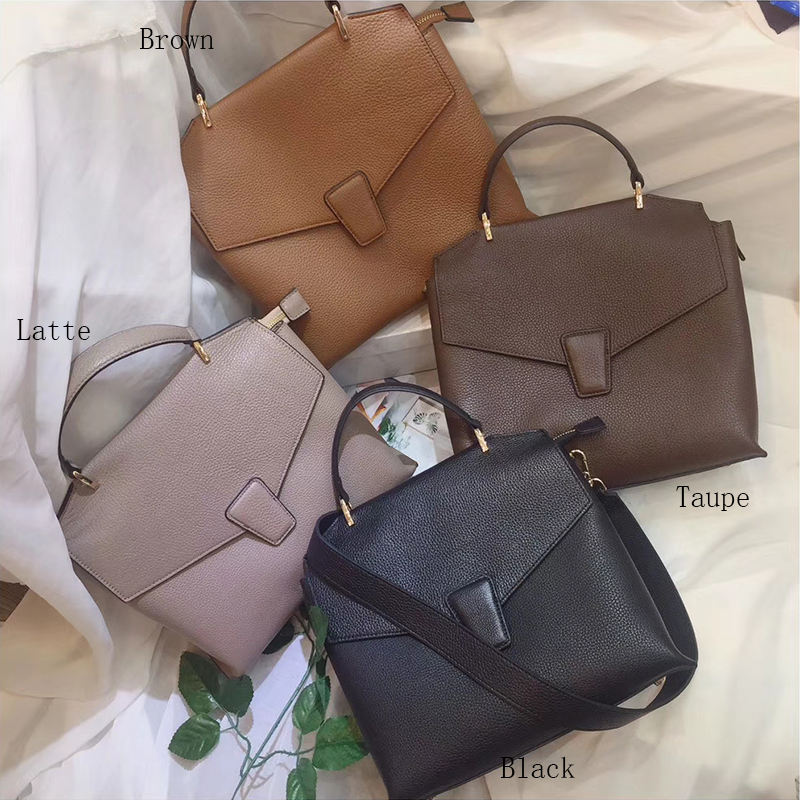 Womens Italian Leather Satchel Purse Crossbody Bag LH2728_4 Colors