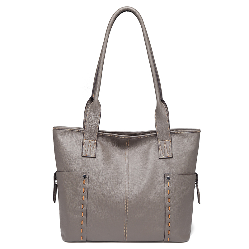 Grey Large Size Pockets Women Shoulder Bags and Handbags Top Handle Bag LH2733