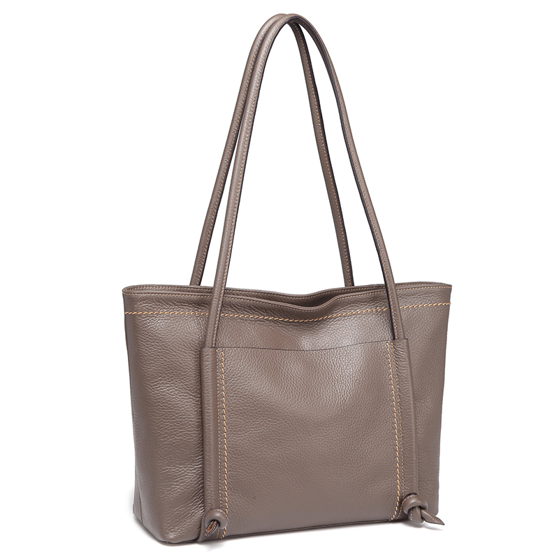 Taupe Sizeable Fashion Tote Shoulder Handbags Ladies Top Handle Satchel LH2735