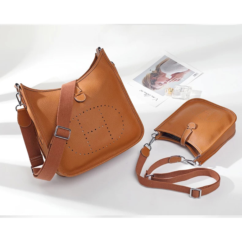 Supple Genuine Leather Crossbody Bag Women Purse LH2743S_7 Colors