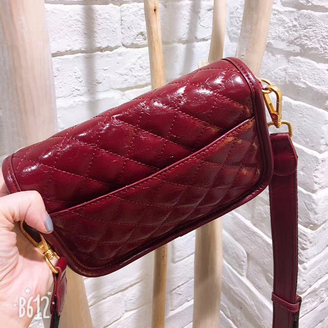 Quilted Distress Leather Crossbody Bag LH2757_2 Colors