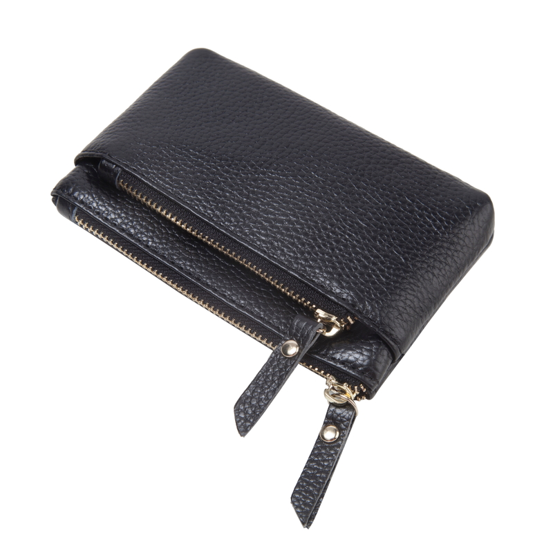 Muti Zipper Leather Coin Purse Wallet Bag LH2777_4 Colors