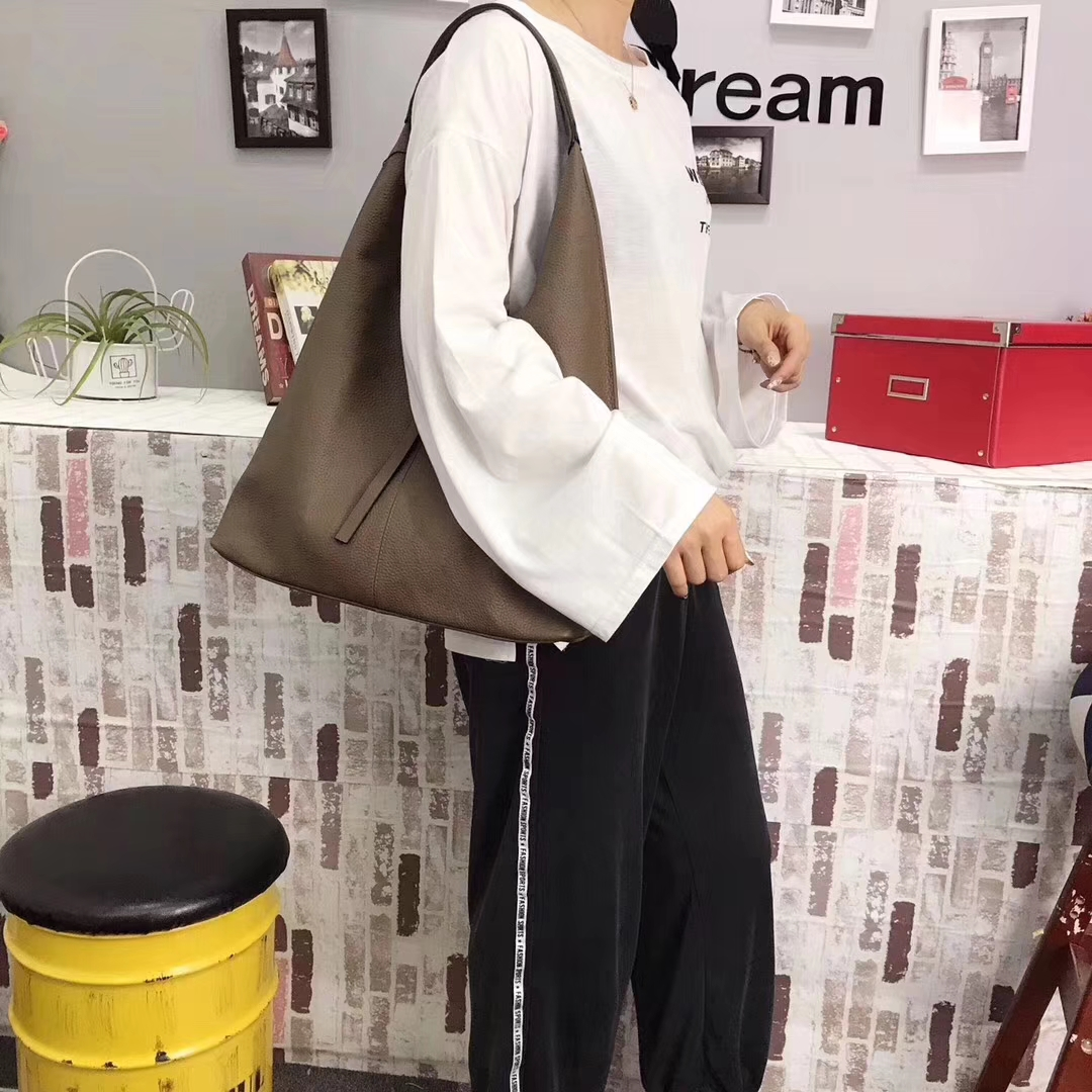 Soft Genuine Leather Hobo Slouchy Bag LH2799_5 Colors