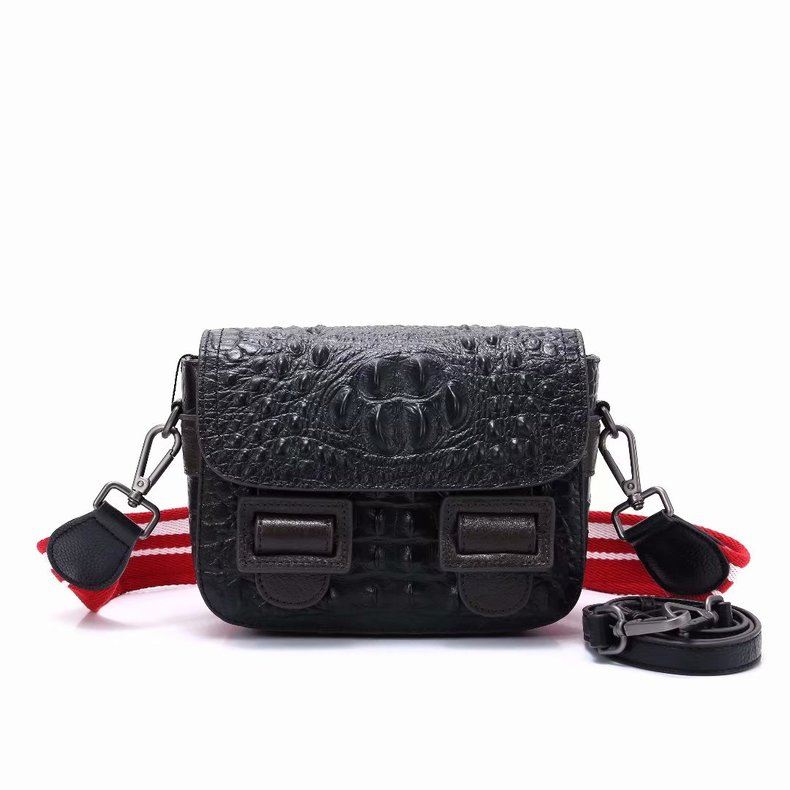 Crocodile Pattern Women Leather Crossbody Bag LH2808_3 Colors