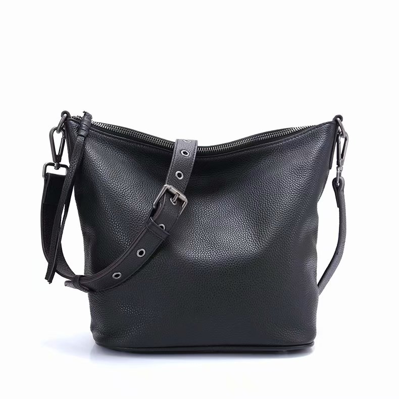 Pebbled leather Shoulder Bag Crossbody Bag LH2815_3 Colors