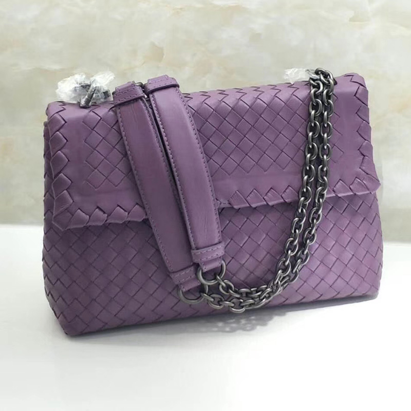 Woven Sheepskin leather Crossbody Bag LH2816_4 Colors