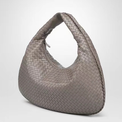 Woven Sheepskin Leather Hobo Slouchy Bag LH2825S_3 Colors