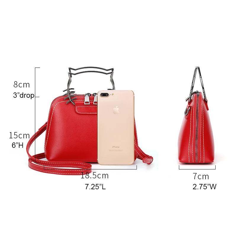 Small Size Real Leather Purse Leather Handbag LH2848_2 Colors