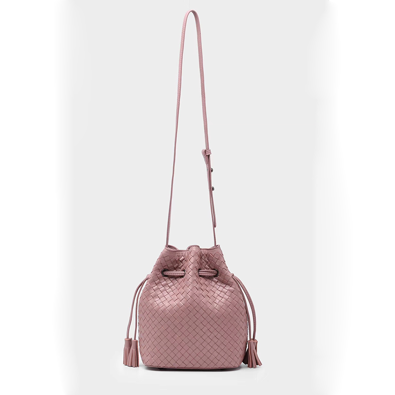 Woven Drawstring Sheepskin Crossbody Shoulder Bag LH2872_4 Colors