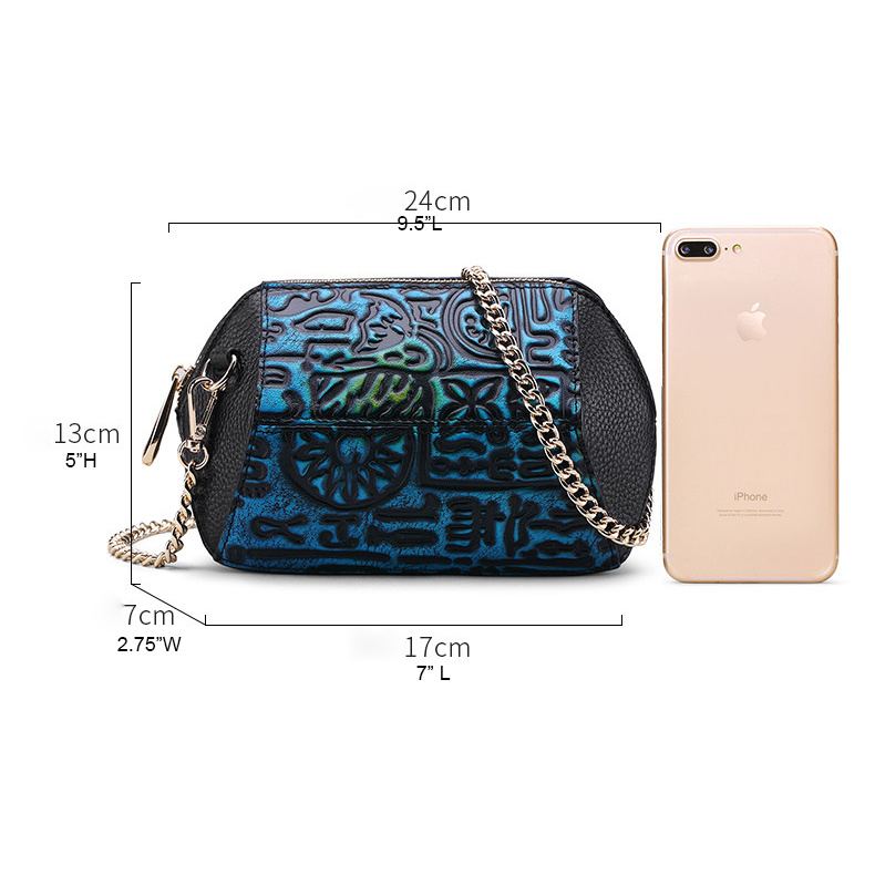 Cute Top Zip Crossbody Bag Leather Purse LH2858_2 Colors