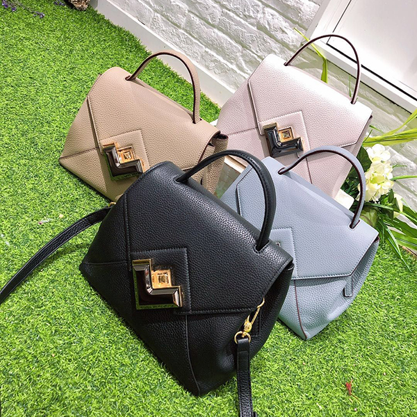 Luxury Womens Leather Satchel Bag LH2873_4 Colors