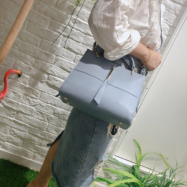 Trendy Lady Leather Tote Bag LH2874_3 Colors