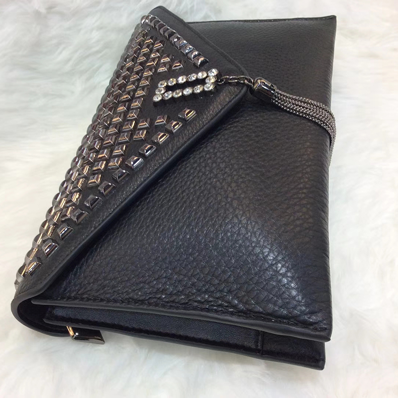 Stylish Rivet Leather Clutch Purse for Women LH2881